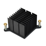 Tabbed heat sink with push pin