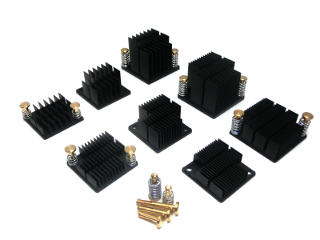 Heat Sinks with integrated Attachment Tabs